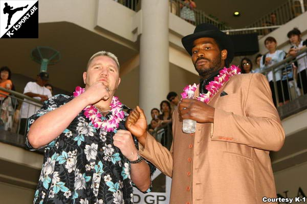 Press Conference (Jan 'The Giant' Nortje, Julius Long) (K-1 World Grand Prix 2007 in Hawaii)